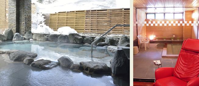 ベアモンテの露天風呂とサウナ